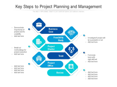 Key Steps To Project Planning And Management Ppt PowerPoint Presentation Icon Portrait PDF