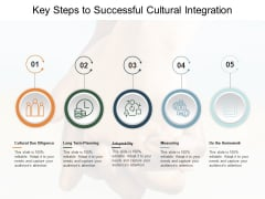 Key Steps To Successful Cultural Integration Ppt PowerPoint Presentation Gallery Graphic Images