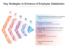 Key Strategies To Enhance Of Employee Satisfaction Ppt PowerPoint Presentation Portfolio Samples PDF