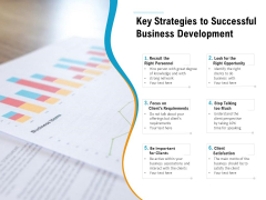 Key Strategies To Successful Business Development Ppt PowerPoint Presentation Icon Examples PDF