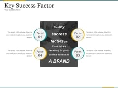 Key Success Factor Ppt PowerPoint Presentation Good