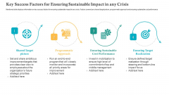 Key Success Factors For Ensuring Sustainable Impact In Any Crisis Ppt Layouts File Formats PDF