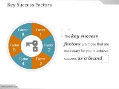 Key Success Factors Ppt PowerPoint Presentation Guide