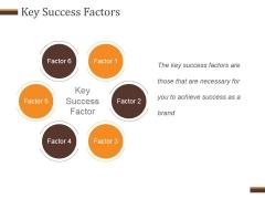 Key Success Factors Ppt PowerPoint Presentation Inspiration