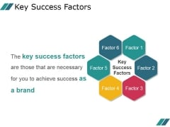 Key Success Factors Ppt PowerPoint Presentation Microsoft