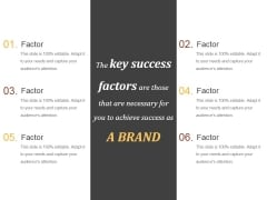 Key Success Factors Ppt PowerPoint Presentation Templates