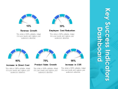 Key Success Indicators Dashboard Ppt PowerPoint Presentation Infographics Slide Portrait