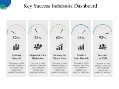 Key Success Indicators Dashboard Ppt PowerPoint Presentation Outline Slideshow