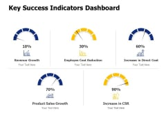 Key Success Indicators Dashboard Ppt PowerPoint Presentation Pictures Example Topics