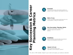 Key Succession And Career Planning Metrics Ppt PowerPoint Presentation Infographic Template Skills