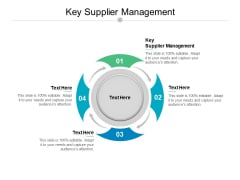 Key Supplier Management Ppt PowerPoint Presentation Outline Shapes Cpb