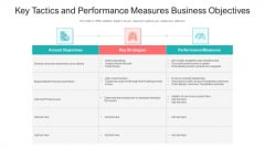 Key Tactics And Performance Measures Business Objectives Ppt Outline Backgrounds PDF