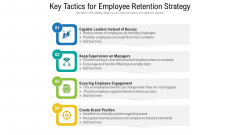 Key Tactics For Employee Retention Strategy Ppt Show Slide Download PDF