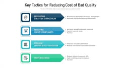 Key Tactics For Reducing Cost Of Bad Quality Ppt PowerPoint Presentation Inspiration Elements PDF
