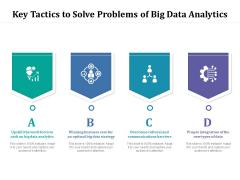 Key Tactics To Solve Problems Of Big Data Analytics Ppt PowerPoint Presentation Slides Styles PDF