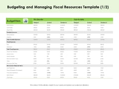 Key Team Members Budgeting And Managing Fiscal Resources Ppt Infographic Template Structure PDF