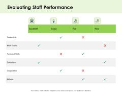 Key Team Members Evaluating Staff Performance Ppt Summary Slide PDF