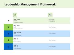 Key Team Members Leadership Management Framework Ppt Show Structure PDF