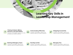 Key Team Members Learning Key Skills In Leadership Management Ppt Gallery Graphics PDF