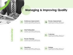 Key Team Members Managing And Improving Quality Ppt Icon Designs Download PDF