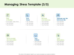 Key Team Members Managing Stress Prioritize Ppt File Format PDF