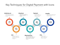 Key Techniques For Digital Payment With Icons Ppt PowerPoint Presentation Icon Show PDF
