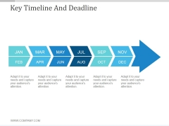 Key Timeline And Deadline Ppt PowerPoint Presentation Background Image