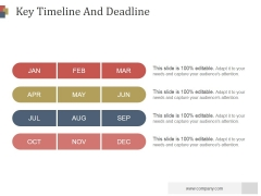 Key Timeline And Deadline Ppt PowerPoint Presentation Guide