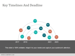 Key Timelines And Deadline Ppt Powerpoint Presentation Ideas