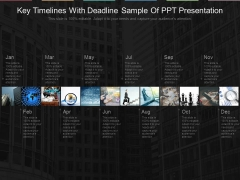 Key Timelines With Deadline Sample Of Ppt Presentation