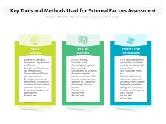 Key Tools And Methods Used For External Factors Assessment Ppt PowerPoint Presentationmodel Brochure PDF
