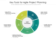 Key Tools For Agile Project Palnning Ppt PowerPoint Presentation Model Clipart Images PDF