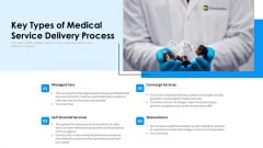 Key Types Of Medical Service Delivery Process Ppt PowerPoint Presentation File Visual Aids PDF