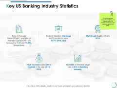 Key Us Banking Industry Statistics Ppt PowerPoint Presentation Ideas Portfolio