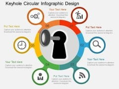 Keyhole Circular Infographic Design Powerpoint Templates