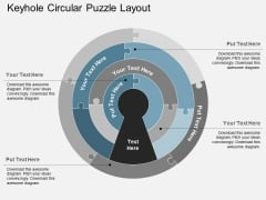Keyhole Circular Puzzle Layout Powerpoint Templates