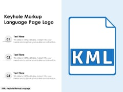Keyhole Markup Language Page Logo Ppt PowerPoint Presentation Gallery Design Ideas PDF