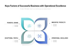 Keys Factors Of Successful Business With Operational Excellence Ppt PowerPoint Presentation Infographic Template Show