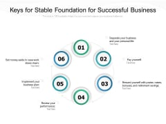Keys For Stable Foundation For Successful Business Ppt PowerPoint Presentation File Graphics PDF