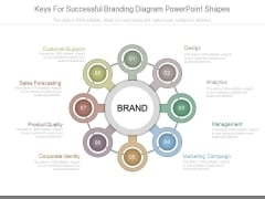 Keys For Successful Branding Diagram Powerpoint Shapes