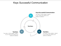 Keys Successful Communication Ppt PowerPoint Presentation Visual Aids Professional Cpb