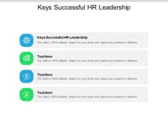 Keys Successful HR Leadership Ppt PowerPoint Presentation Ideas Templates Cpb