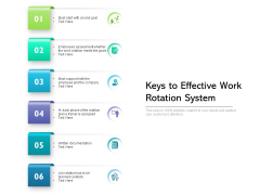 Keys To Effective Work Rotation System Ppt PowerPoint Presentation Gallery Deck PDF