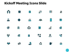 Kickoff Meeting Icons Slide Growth Ppt PowerPoint Presentation Pictures Slides