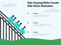 Kids Enjoying Roller Coaster Ride Vector Illustration Ppt PowerPoint Presentation Icon Professional PDF