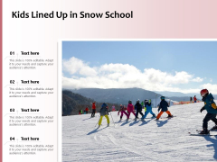 Kids Lined Up In Snow School Ppt PowerPoint Presentation File Designs Download PDF