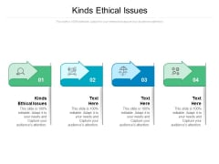 Kinds Ethical Issues Ppt PowerPoint Presentation Outline Inspiration Cpb