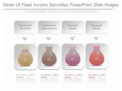 Kinds Of Fixed Income Securities Powerpoint Slide Images