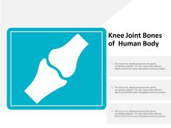 Knee Joint Bones Of Human Body Ppt Powerpoint Presentation Slides Master Slide