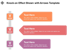 Knock On Effect Shown With Arrows Template Ppt PowerPoint Presentation Icon Ideas PDF